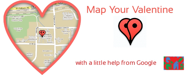 Map Your Valentine - from Google