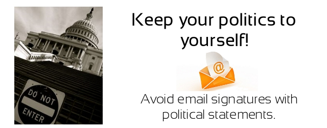 Coeur d'Alene Small Businesses - Keep politics to yourself