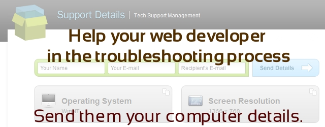 Help your web designer with troubleshooting