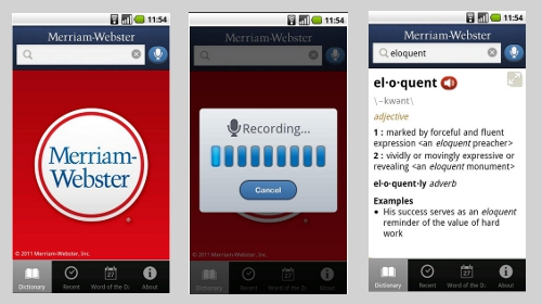 Android App - Merriam Webster Dictionary