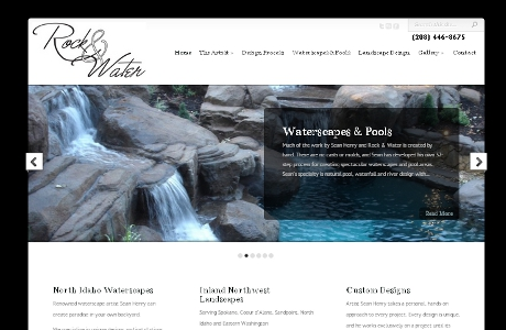 Coeur d'Alene Web Design - Rock and Water
